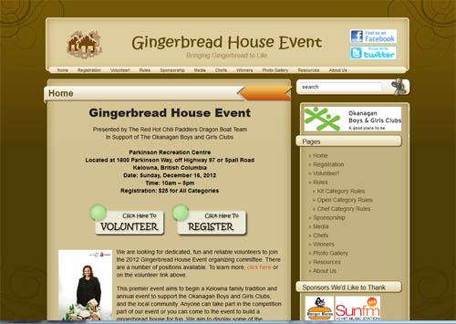 Gingerbread Event Website