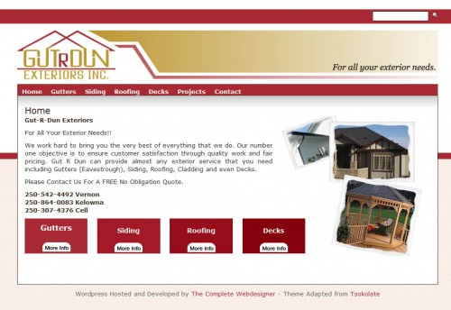 GutrDun Website Design
